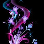 Glowing-background-with-flowers-and-stars